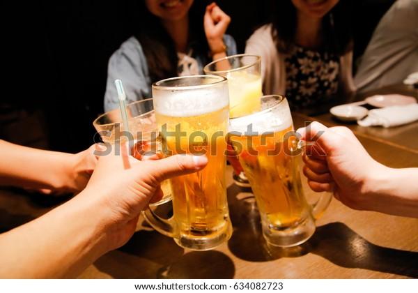 Japanese pub beer cheers