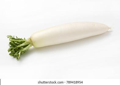 Japanese radish  isolated white background