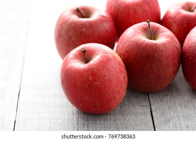 Japanese red apple