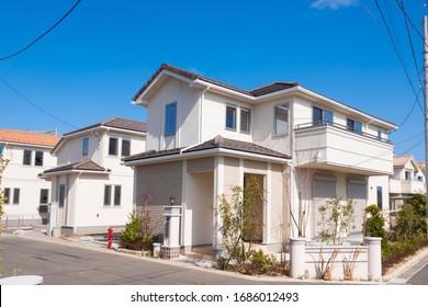 Japanese residential area Image February 2020