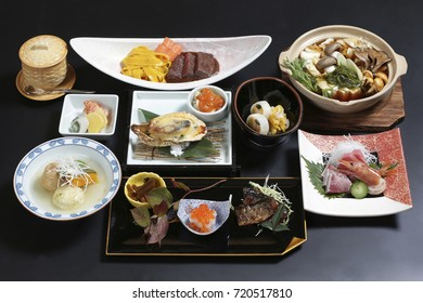 Japanese restaurant course meal