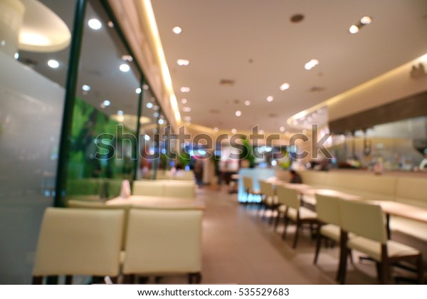 Japanese Restaurant Interior Fast Food Burger Abstract Stock Image 535529683