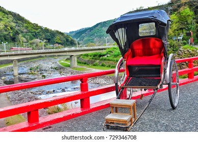 Japanese Rickshaw at Hakone, Japan.