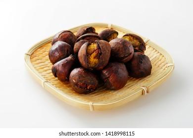 Japanese roasted chestnut.  Baked chestnut.