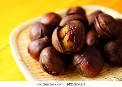 Japanese roasted chestnut.  Baked chestnut.