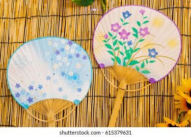 """""""Uchiwa"""" a Japanese round (paper) fan."""