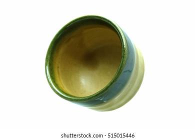 Japanese sake cup isolated on white background.