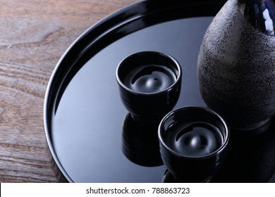 japanese sake on the table