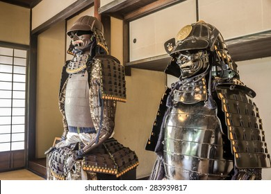 Japanese Samurai tradition armor in Samurai house in Chiba Japan