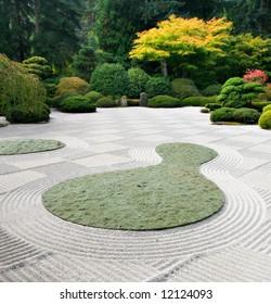 Japanese Sand Garden Portland Oregon