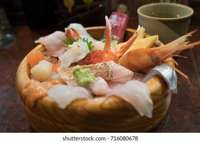 Japanese sashimi bowl, Ishikawa, Japan