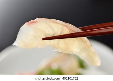 japanese sashimi, red sea bream