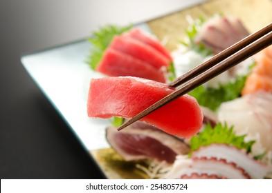 japanese sashimi tuna