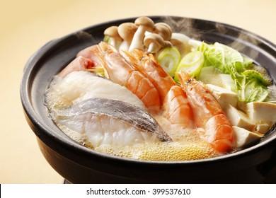 Japanese seafood hot pot