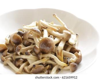 Japanese shimeji mushroom stir fried