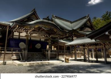 Japanese shinto Ise Grand shrine , Ise, Japan