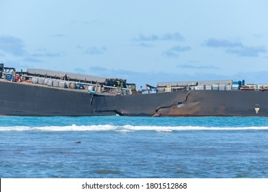 Japanese ship Wakashio wrecked off the coast of Mauritius