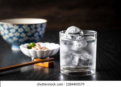 Japanese shochu on the rocks