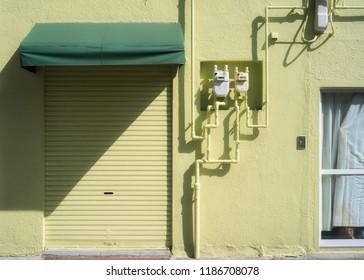 Japanese Showa Era style wall in Sugamo. Tokyo.