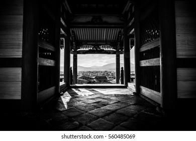 Japanese Shrine In Kyoto