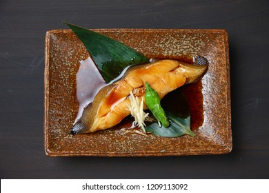 Japanese simmered flounder