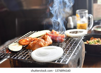 Japanese small charcoal grill, good diner.
