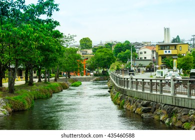 Japanese small city on the travel rout