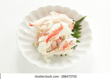 Japanese snow crab, zuwaigani on dish