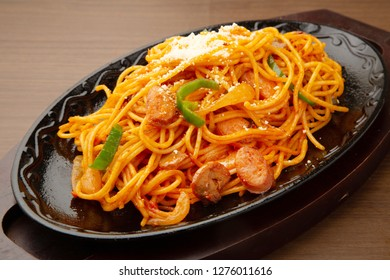 Japanese spaghetti with tomato sauce japanes