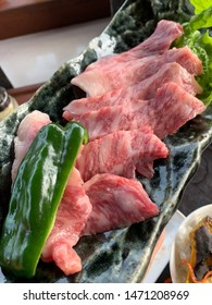 Japanese special beef known as Shiraoi Wagyu. BBQ  In Japanese style