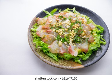 Japanese style carpaccio with sea bream