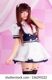 japanese style cute maid