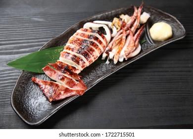 Japanese style Roasted whole squid