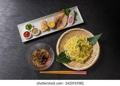 Japanese style soy sauce cold noodle ramen