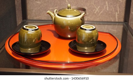 japanese style teapot and teacup