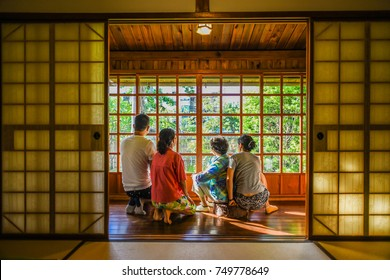 Japanese Style Wooden House in Hualien Cultural and Creative Industries Park, Hualien, Taiwan