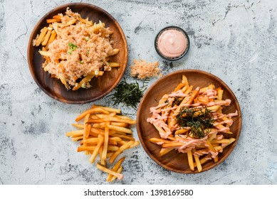 Japanese Styled French Fries Flatlay