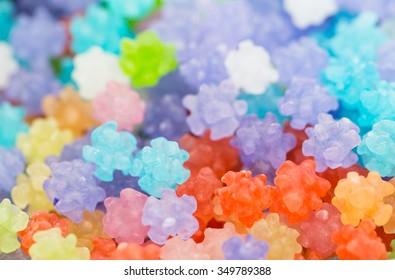 Japanese sugar candy called konpeito