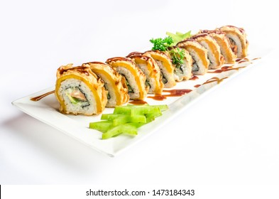 "Japanese sushi dish ""Pinton Roll"""