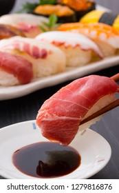 Japanese Sushi - handful of tuna