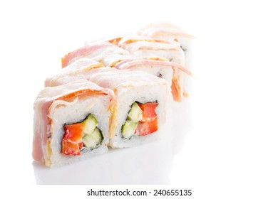 japanese sushi isolated