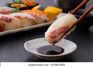 Japanese Sushi - Sea bream's grip