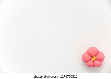 Japanese sweet pastry Wagashi, for new year and winter-spring.