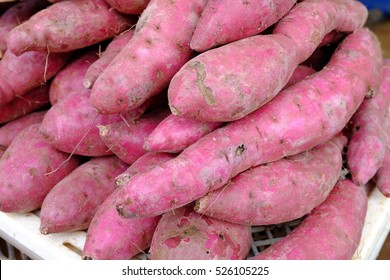 Japanese sweet potato. raw material and ingredient food