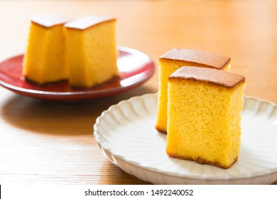 japanese sweets, castella cake,  (Japanese sponge cake)