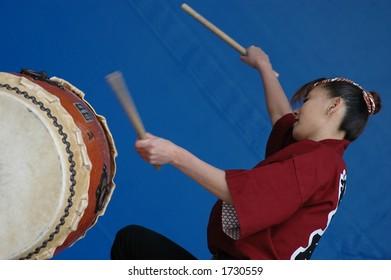 Japanese taiko drum performance