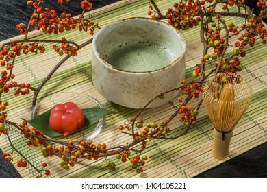 Japanese tea ceremony and Matcha(powdered Japanese tea)