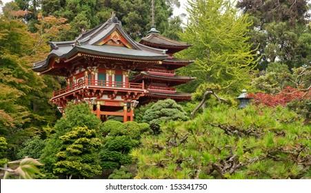Japanese Tea Garden in the Golden Gate Park, San Francisco. California. USA