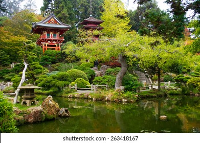 Japanese Tea Garden in Golden Gate Park, San Francisco, California, USA