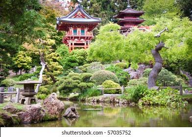 Der japanische Teegarten im Golden Gate Park, San Francisco.